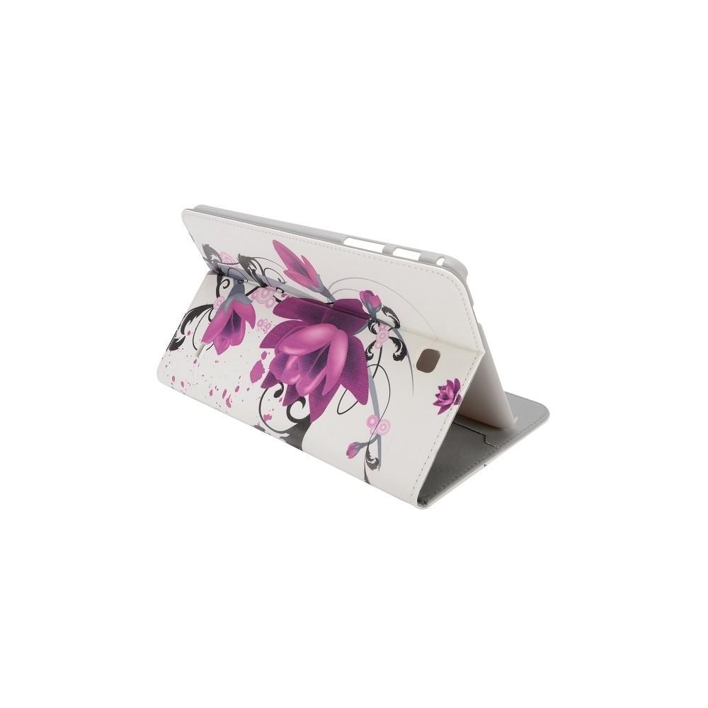 Etui Galaxy Tab 4 8,0 motif Fleur de Lotus violette