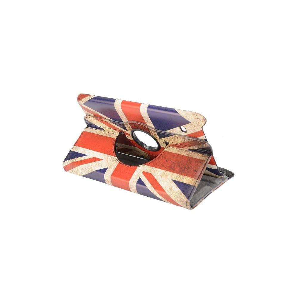 Etui Galaxy Tab 4 8.0 rotatif 360° drapeau UK