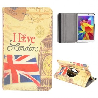Etui Galaxy Tab 4 8.0 rotatif 360° I Love London