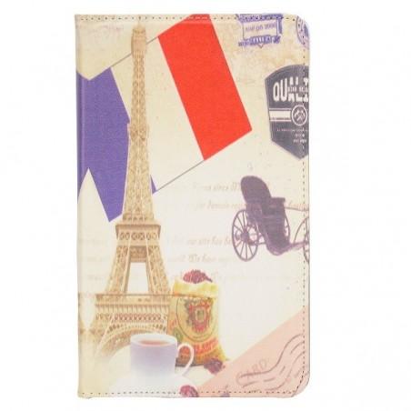 Etui Galaxy Tab 4 8.0 rotatif 360° motif Tour Eiffel
