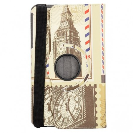 Etui Galaxy Tab 4 8.0 rotatif 360° Monuments Londonien