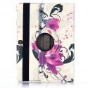 Etui Galaxy Tab S 10.5 Rotatif 360° Fleur de Lotus violette