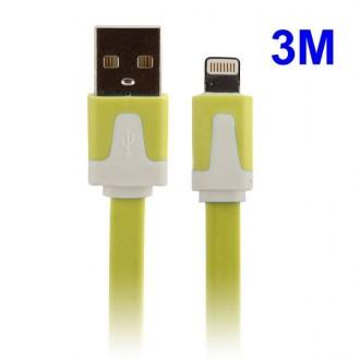 Câble USB vers Lightning 3m jaune