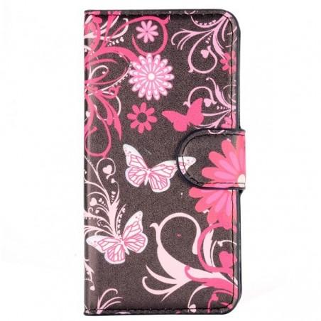 Etui Galaxy A3 motif Papillons et Fleurs
