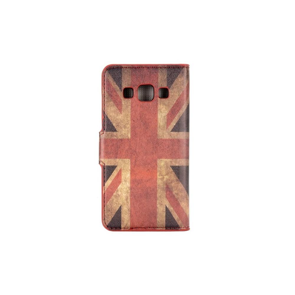 Etui Galaxy A3 motif drapeau UK