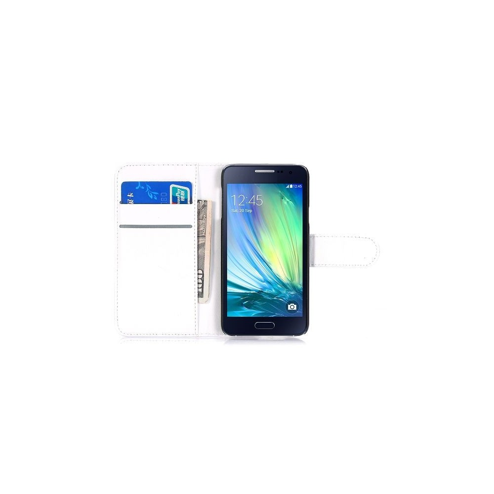 Etui Galaxy A3 Simili-cuir Blanc