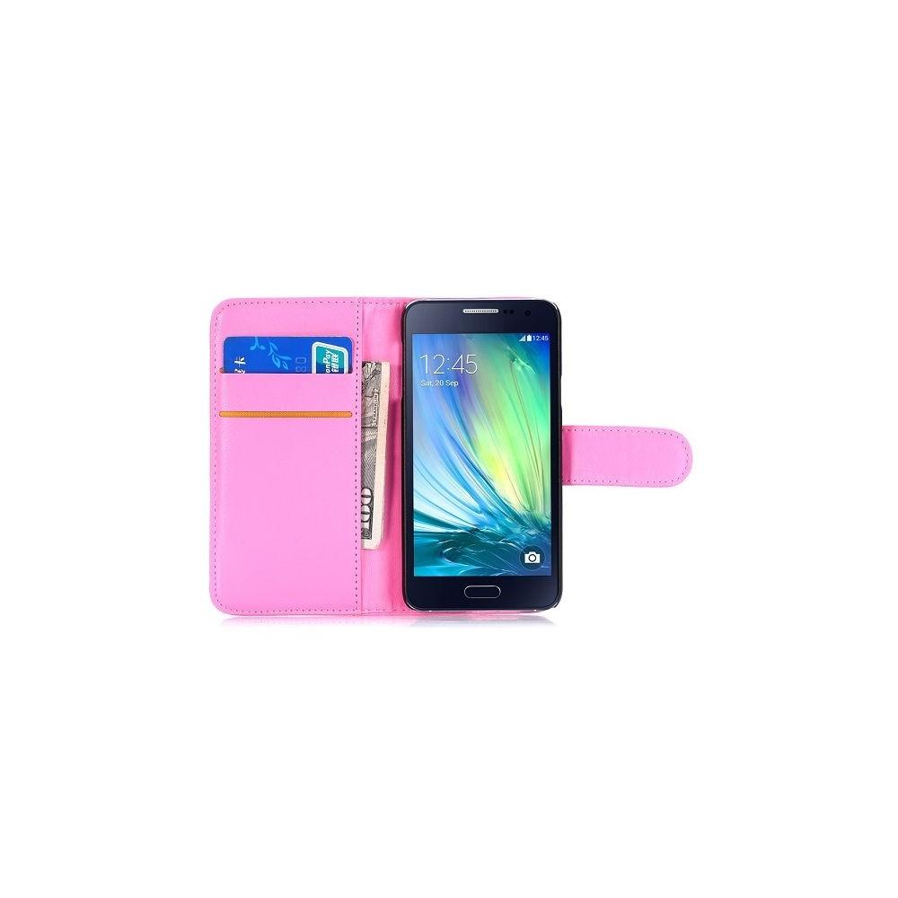 Etui Galaxy A3 Simili-cuir Rose