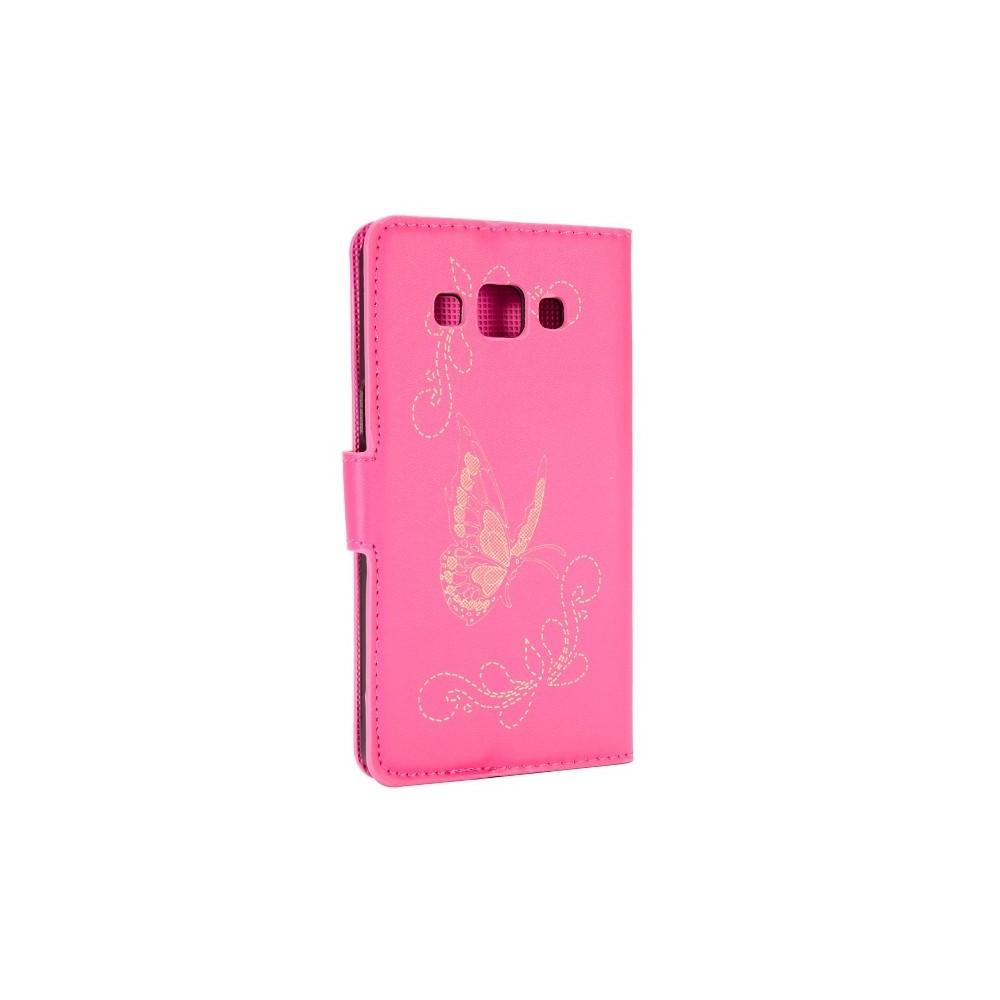 Etui Galaxy A5 motif Papillons Roses