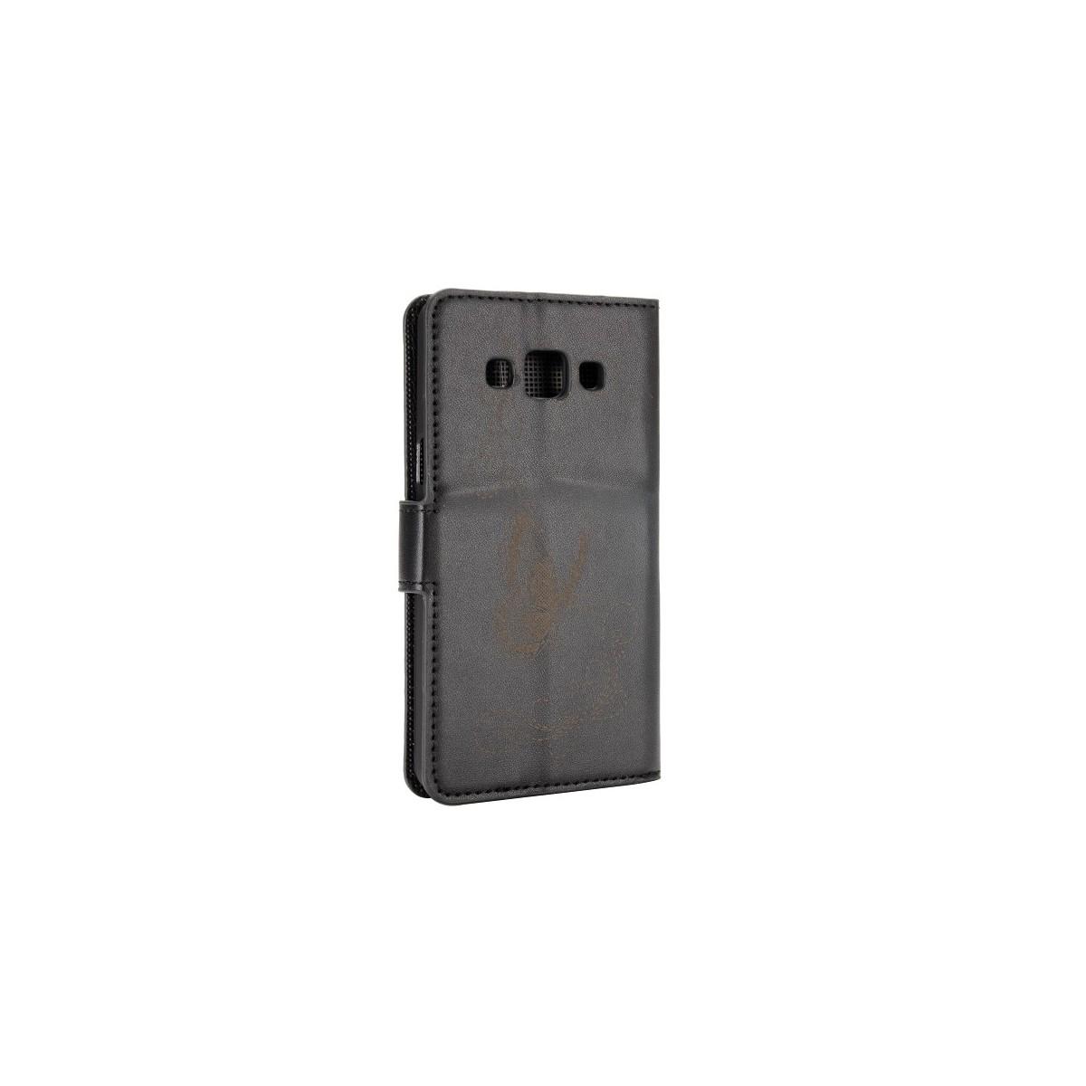 Etui Galaxy A5 motif Papillons Noirs