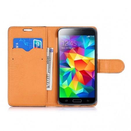 Etui Galaxy S6 Simili-cuir Blanc