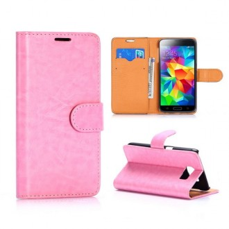 Etui Galaxy S6 Simili-cuir Rose