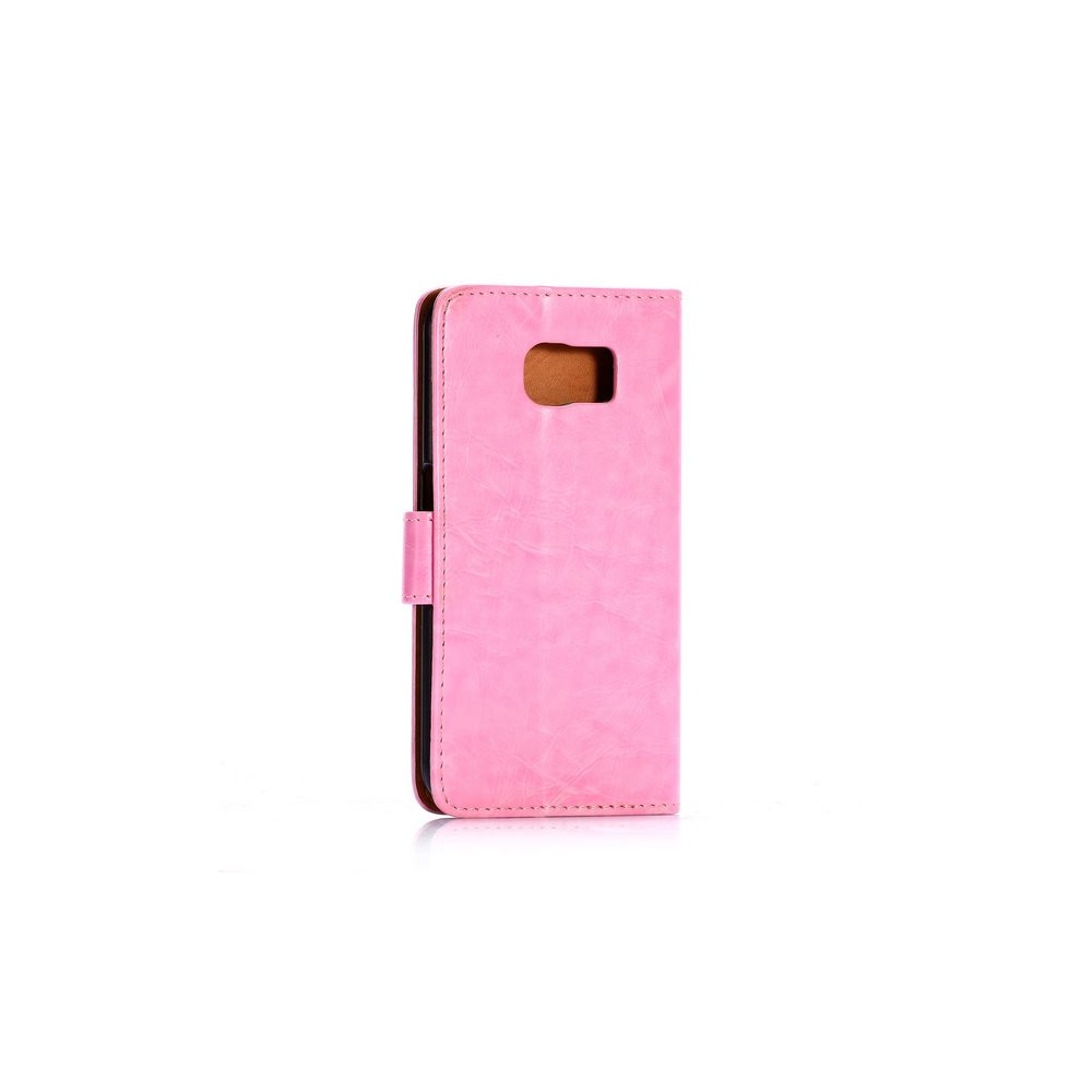Etui Galaxy S6 Simili-cuir Rose