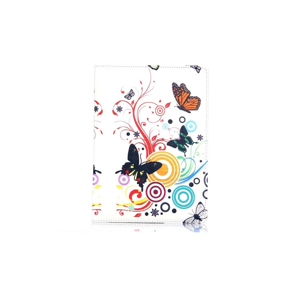 Etui Galaxy Tab S 10.5 rotatif 360° Papillon et cercle
