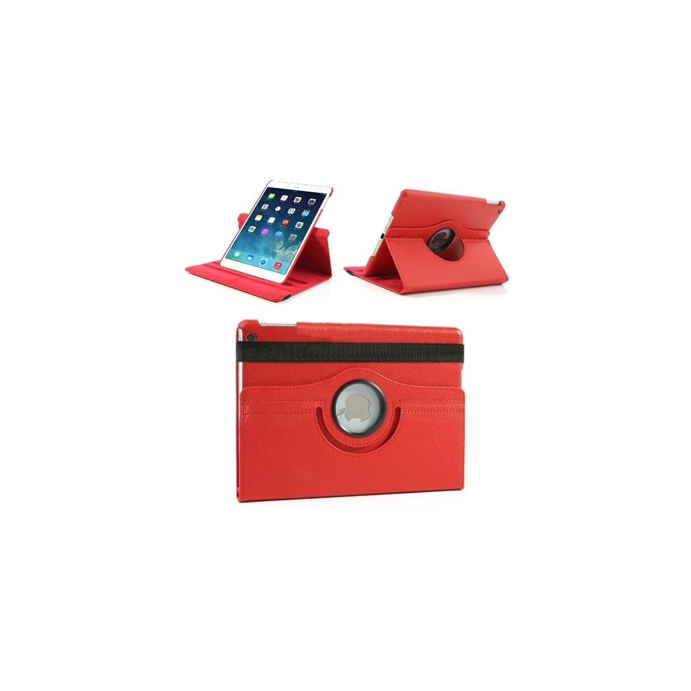 Etui iPad Air Rotatif 360° Simili-cuir Rouge