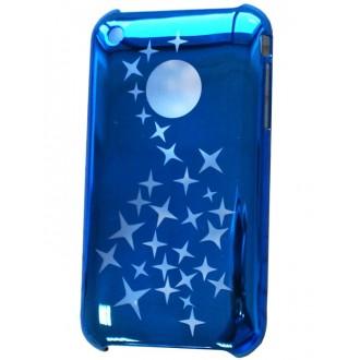 Coque iPhone 3G / 3GS en plastique bleu avec étoiles