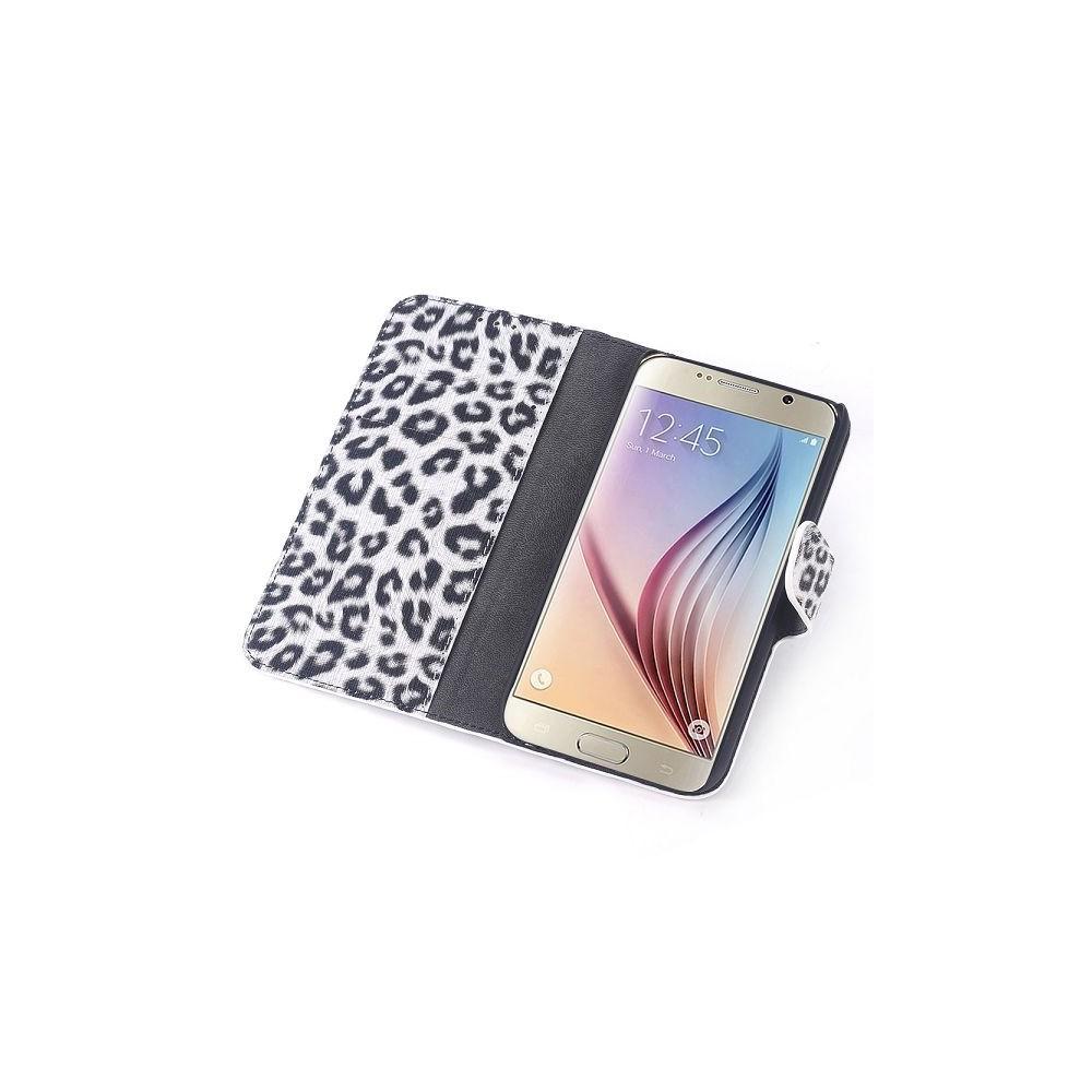 Etui Galaxy S6 motif Léopard blanc et noir