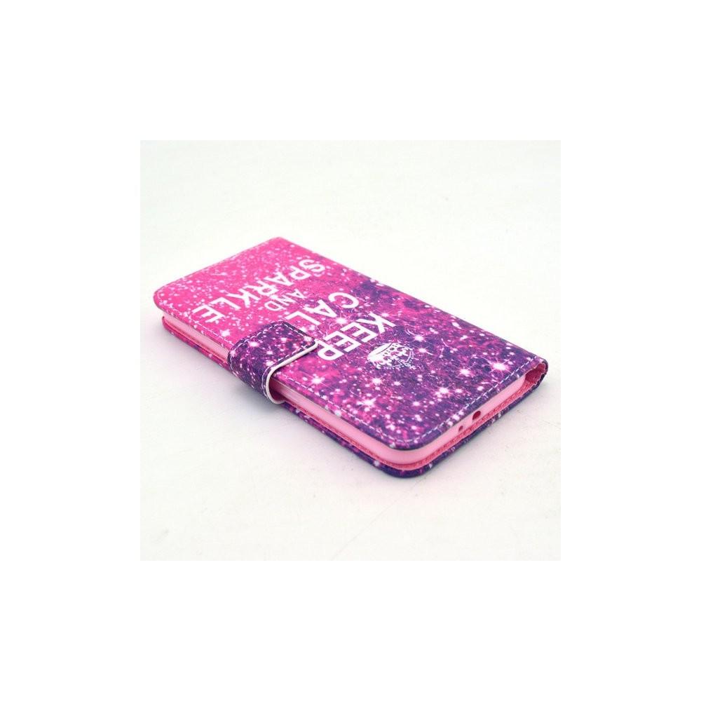 Etui Galaxy S6 Keep Calm and Sparkle rose