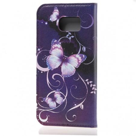 Etui Galaxy S6 Motif Papillon Violet