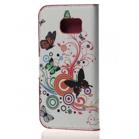 Etui Galaxy S6 Motif Papillons et Cercles