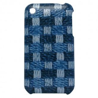 Coque iPhone 3G / 3GS Motif tissage bleu