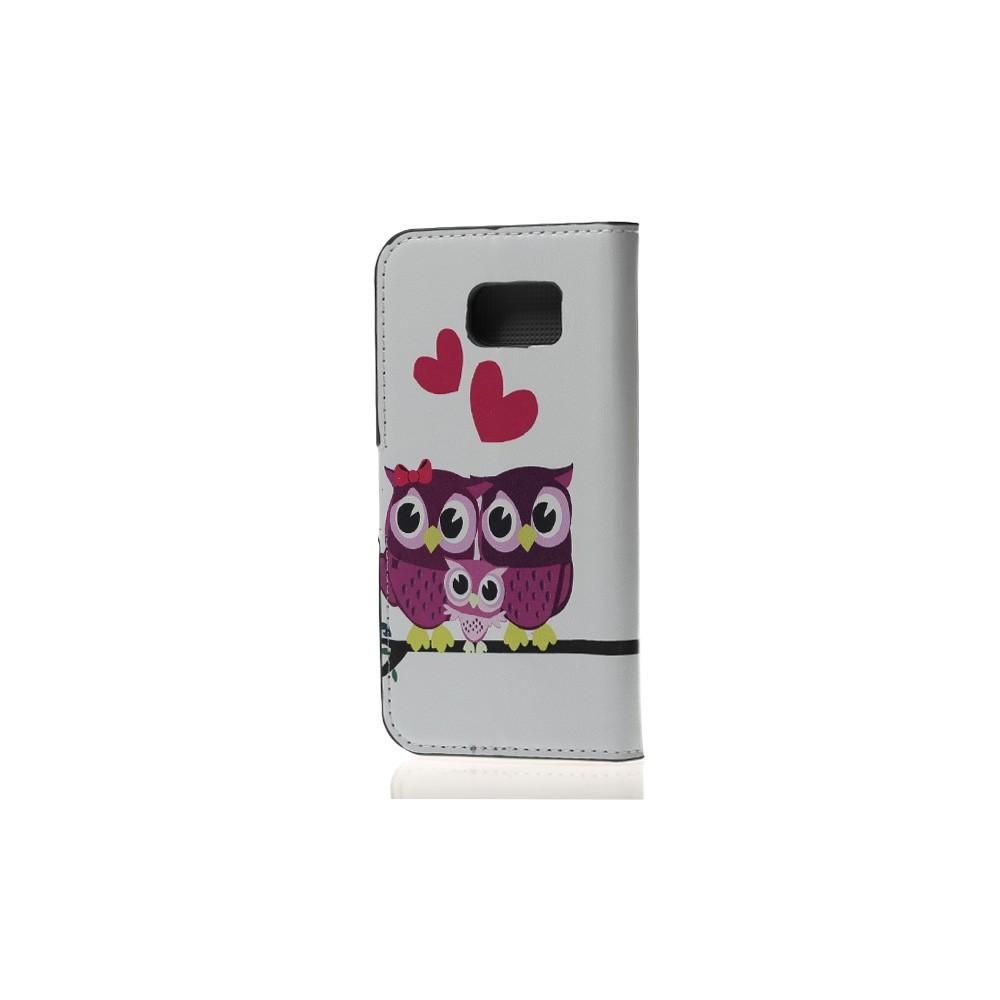 Etui Galaxy S6 Motif Famille de Chouette