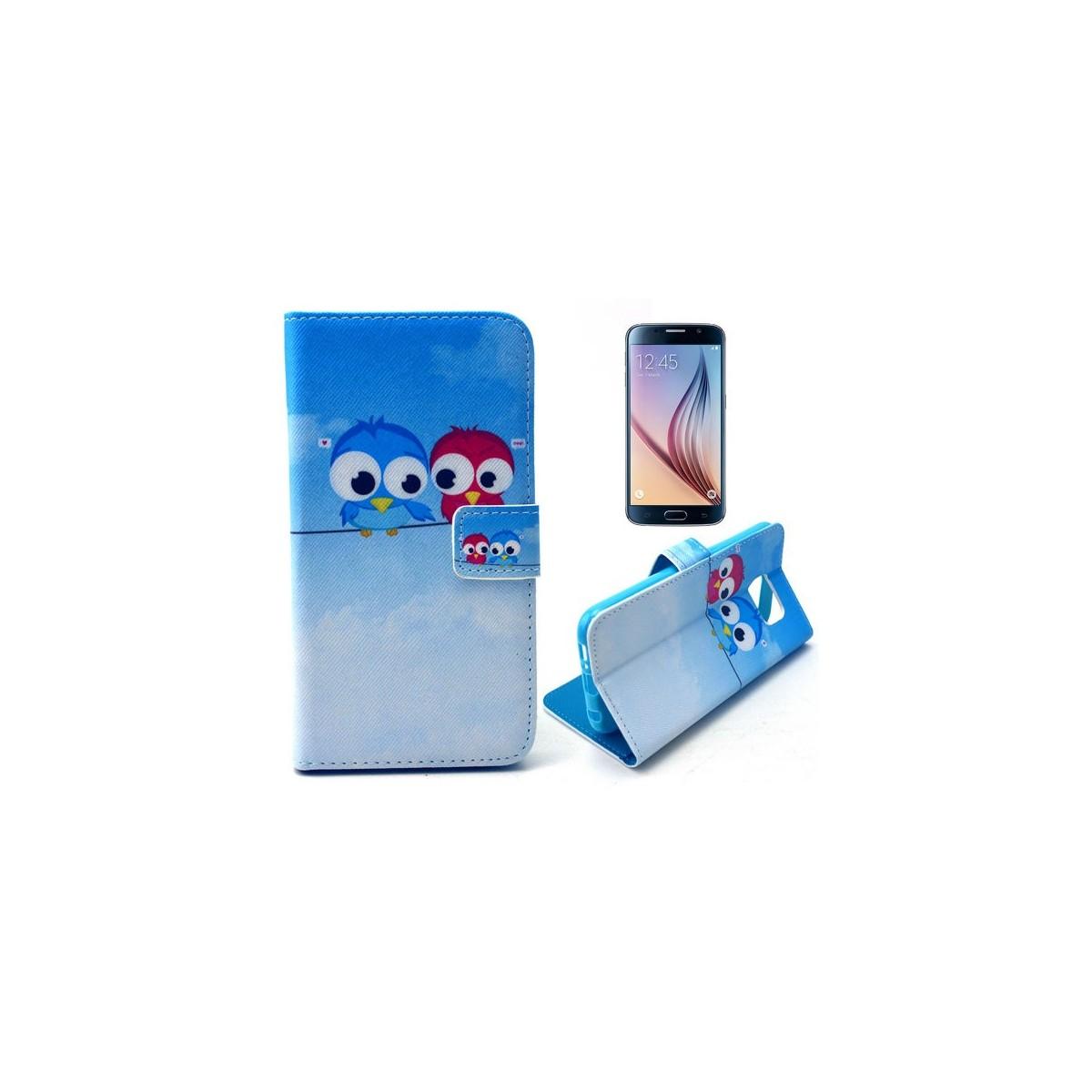 Etui Galaxy S6 Motif Couple de Chouette