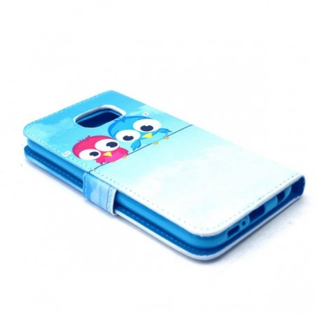 Etui Galaxy S6 Motif Couple de Chouette