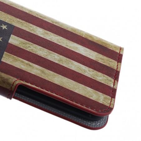 Etui Galaxy S6 motif Drapeau USA Vintage