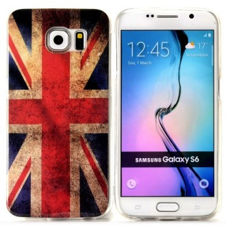 Coque Galaxy S6 motif Drapeau UK Vintage