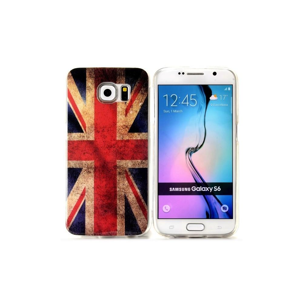Coque Galaxy S6 motif Drapeau UK Vintage