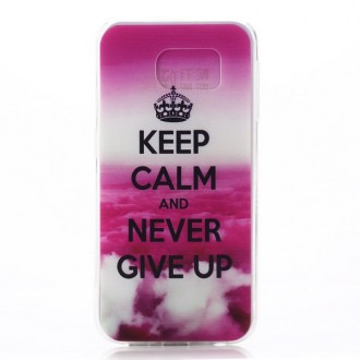 Coque Galaxy S6 motif Keep Calm rose