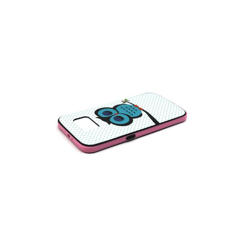 Coque Galaxy S6 motif Chouette Bleue
