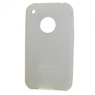 Coque iPhone 3G / 3GS Silicone Blanc translucide
