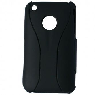 Coque iPhone 3G / 3GS Plastique Noir en deux parties