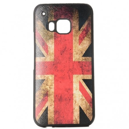 Coque HTC One M9 motif drapeau UK vintage