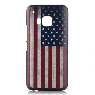 Coque HTC One M9 motif drapeau USA vintage