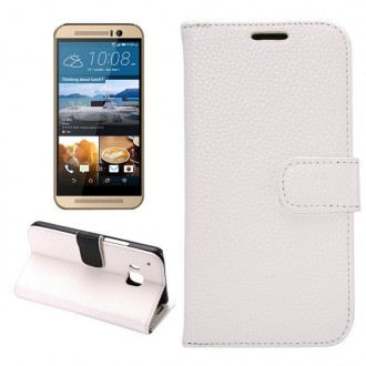 Etui HTC One M9 Simili-cuir Blanc