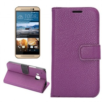 Etui HTC One M9 Simili-cuir Violet