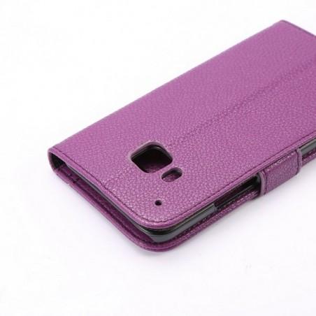 Etui HTC One M9 Simili-cuir Violet