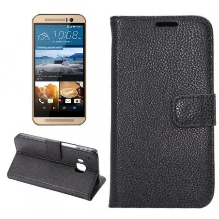 Etui HTC One M9 Simili-cuir Noir