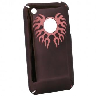 Coque iPhone 3G / 3GS marron logo apparent