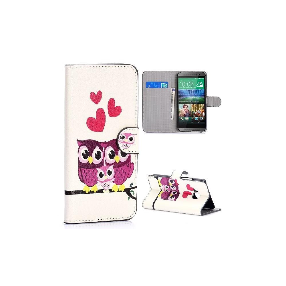 Etui HTC One M9 motif Couple de Chouette
