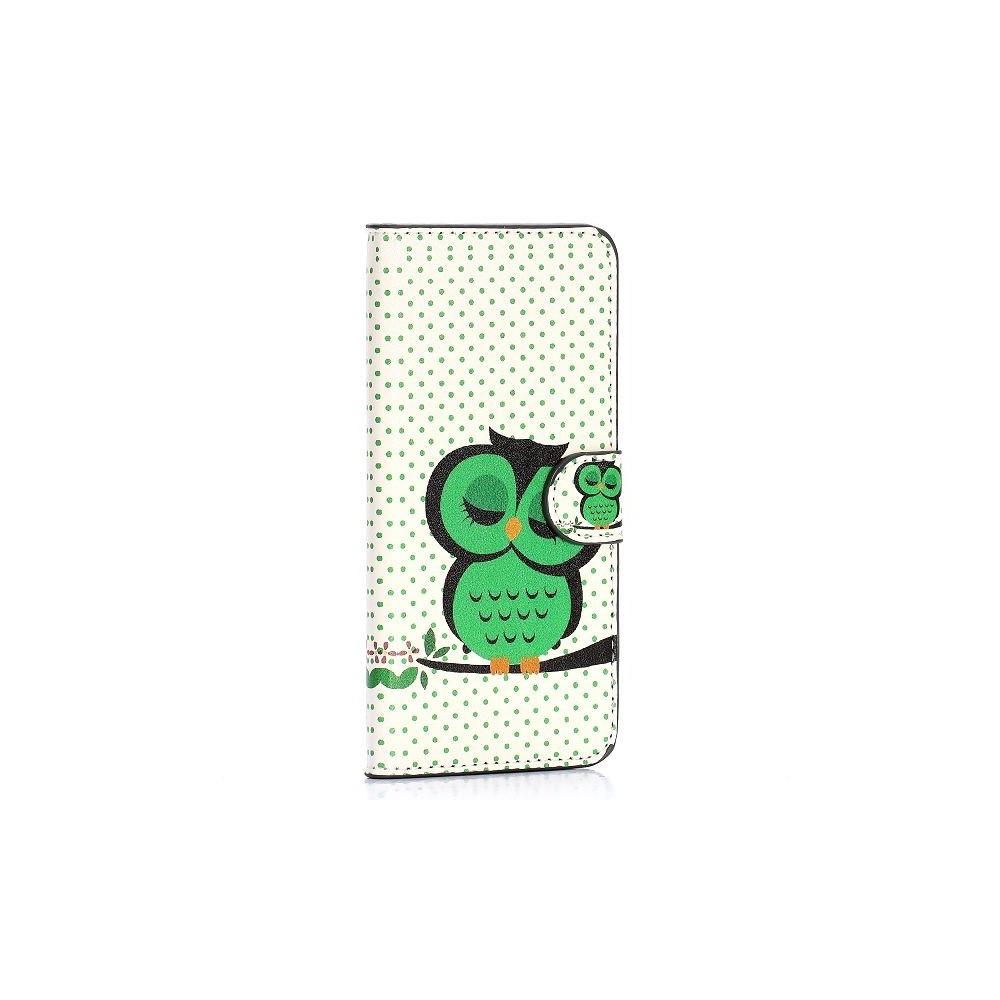 Etui HTC One M9 motif Chouette verte