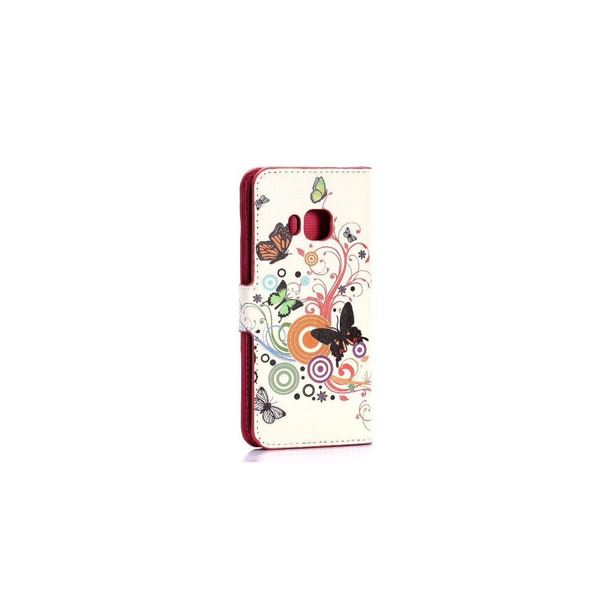 Etui HTC One M9 motif Papillons et Cercles