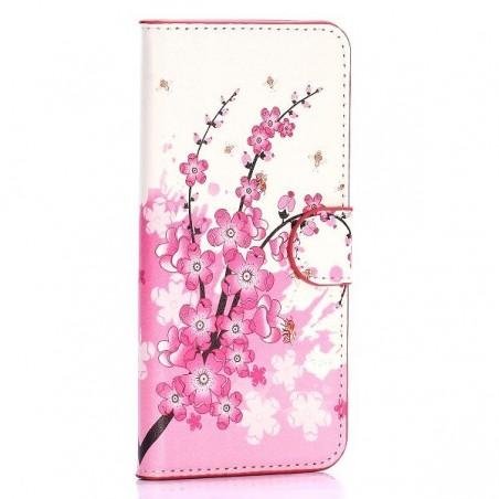 Etui HTC One M9 motif Fleurs Japonaise