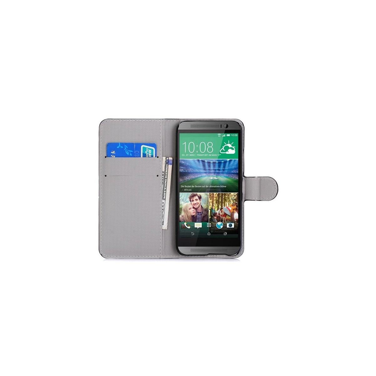 Etui HTC One M9 motifs colorés
