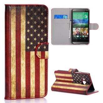 Etui HTC One M9 drapeau USA vintage