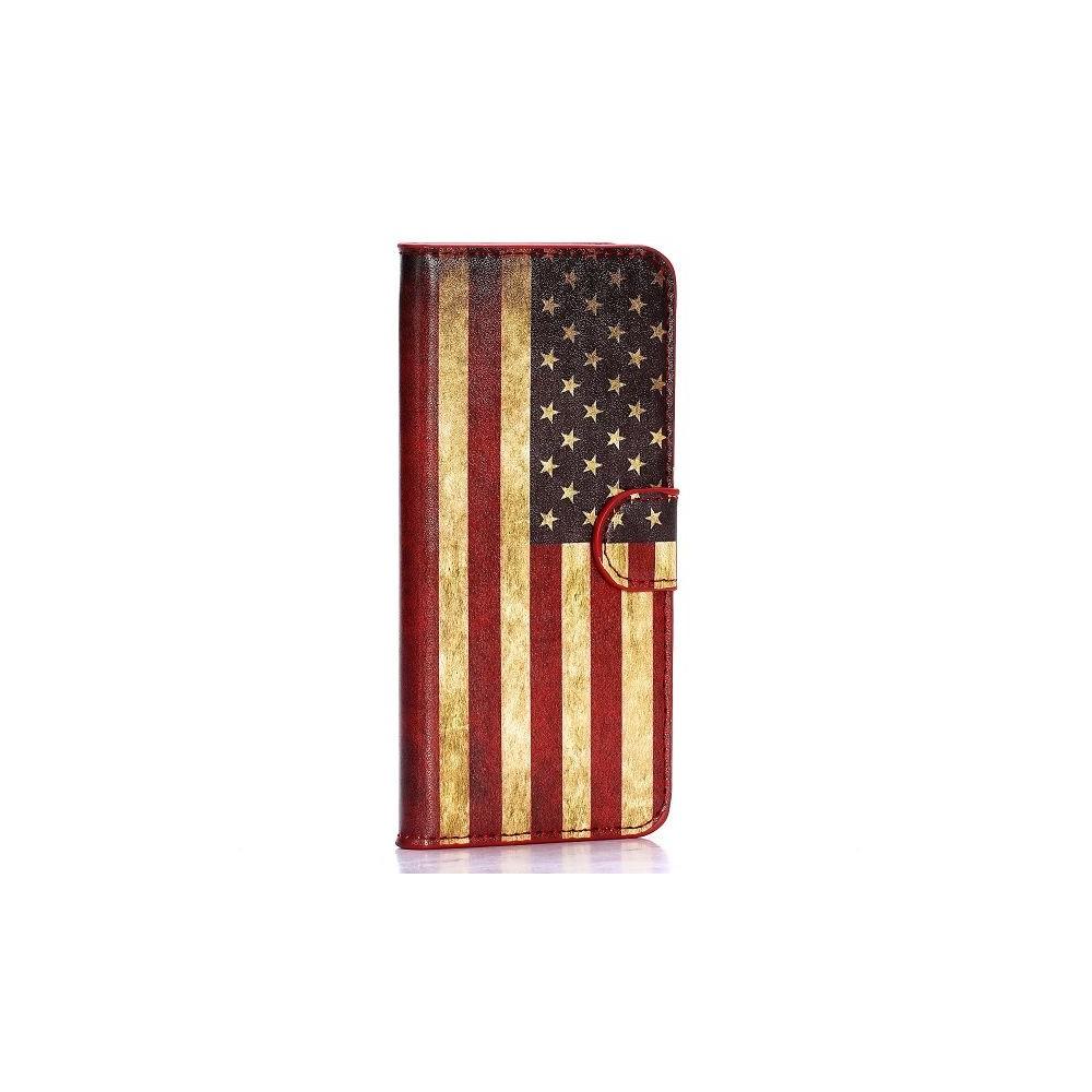 Etui HTC One M9 drapeau USA vintage