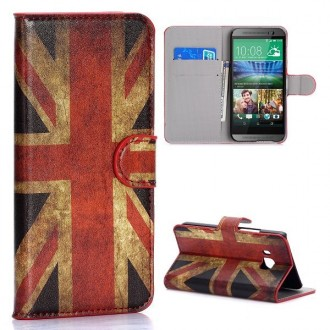 Etui HTC One M9 drapeau UK vintage