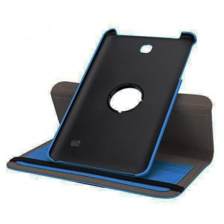 Etui Galaxy Tab 4 8.0 Rotatif 360° Simili-cuir Bleu